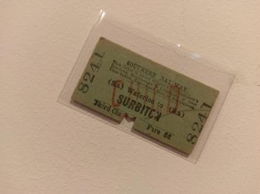 Southern Railway, Ticket (WATERLOO TO SURBITON, 1935)
