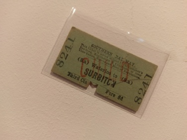 Southern Railway, Ticket (WATERLOO TO SURBITON, 1935)