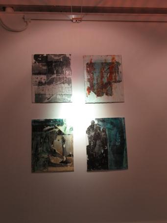 Surbiton Lagoon (SL) - Photocopy Transfer on Canvas with Indian Ink Wash