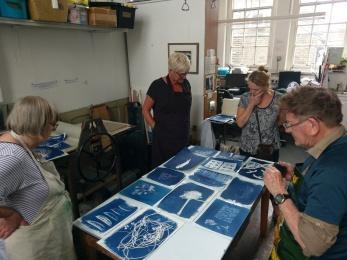 Crit of students work - Kew Art Studio Course