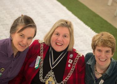 Louise Anderson + Cllr Julie Pickering: Mayor of Kingston + Jane Glennie