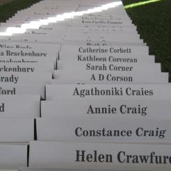 Names of those imprisoned