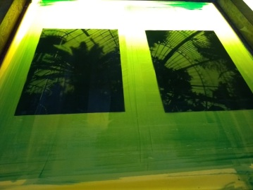 UVL exposing Screen - Kew Art Studio 2020