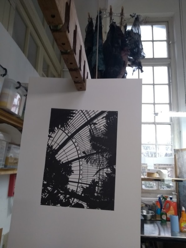 Palm House - Looking in to the Sky, Screen Print 2020