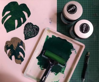Printmaking using recycled materials - Landmark Arts Centre, Summer School 2020