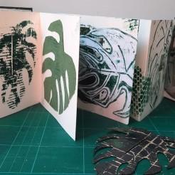 Printmaking using recycled materials - Landmark Arts Centre, Summer School 2020